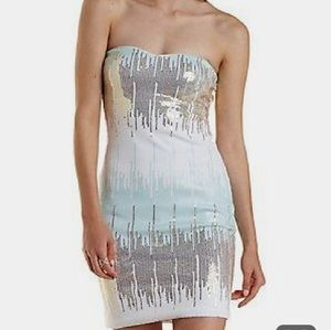 Charlotte Russe Sequin Strapless Bodycon